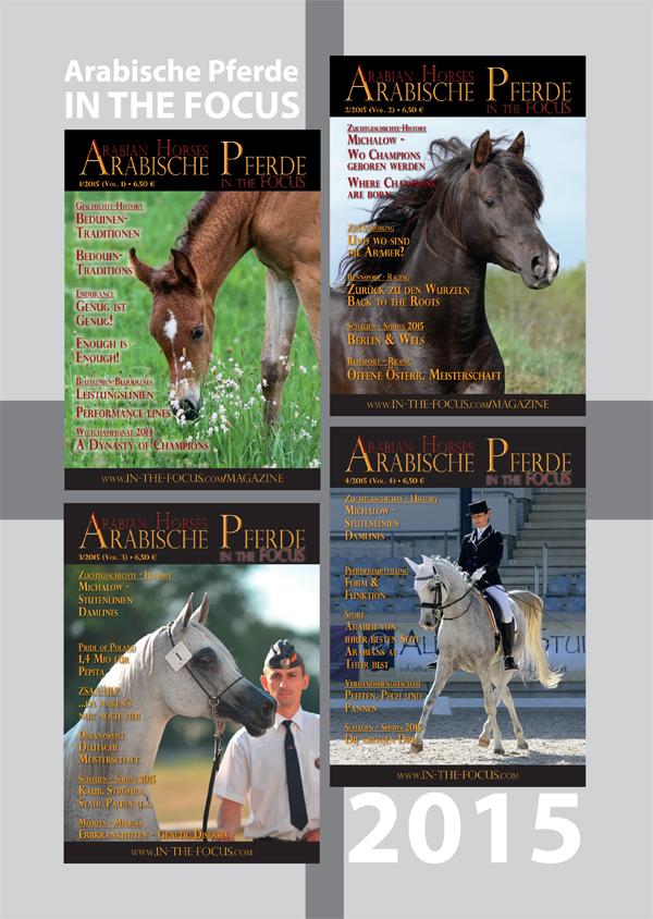 Arabische Pferde IN THE FOCUS Jahrgang 2015