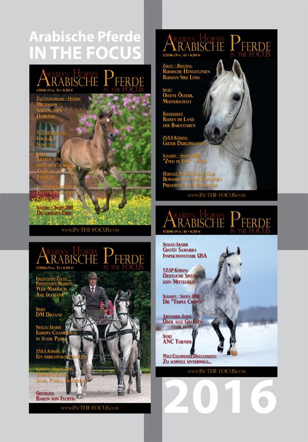 Arabische Pferde IN THE FOCUS Jahrgang 2016